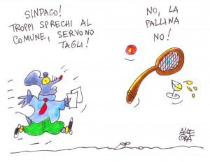 La vignetta, pubblicata su la Repubblica Palermo, è di Gianni Allegra