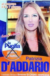 Patrizia D'Addario Manifesto elettorale
