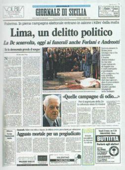 Risultati immagini per OMICIDIO SALVO LIMA