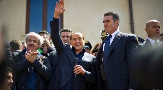 Berlusconi a Lampedusa