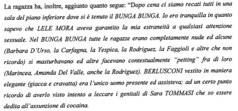 D'Urso, Carfagna, Yespica che si masturbavano
