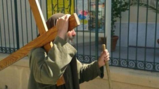 Biagio conte con la croce a palermo