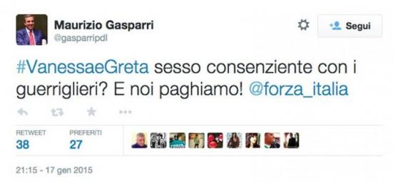 Gasparri tweet