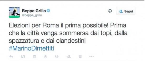 Grillo tweet