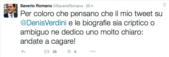 saverio romano tweet 2