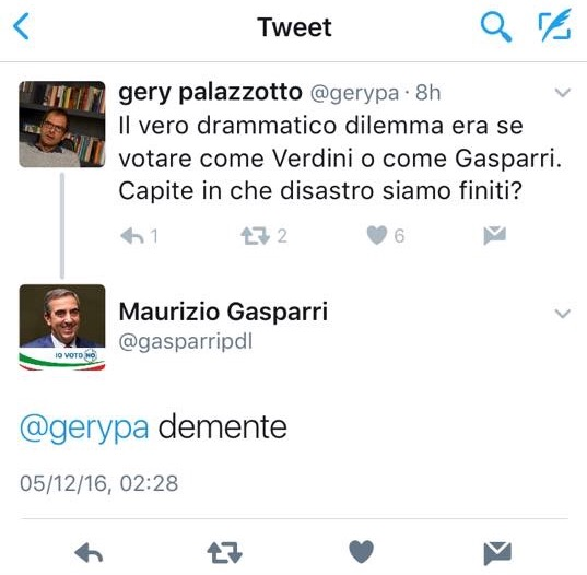 Gasparri Twitter